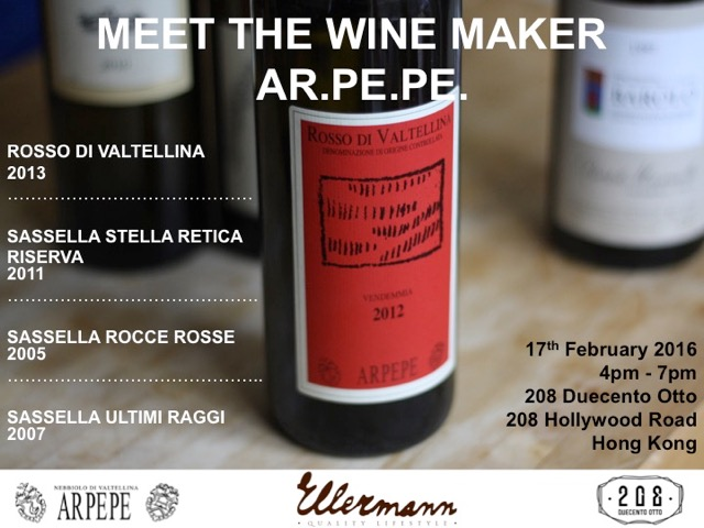 ARPEPE Wine Event Hong Kong 17 February 2016 at 208 Restaurant