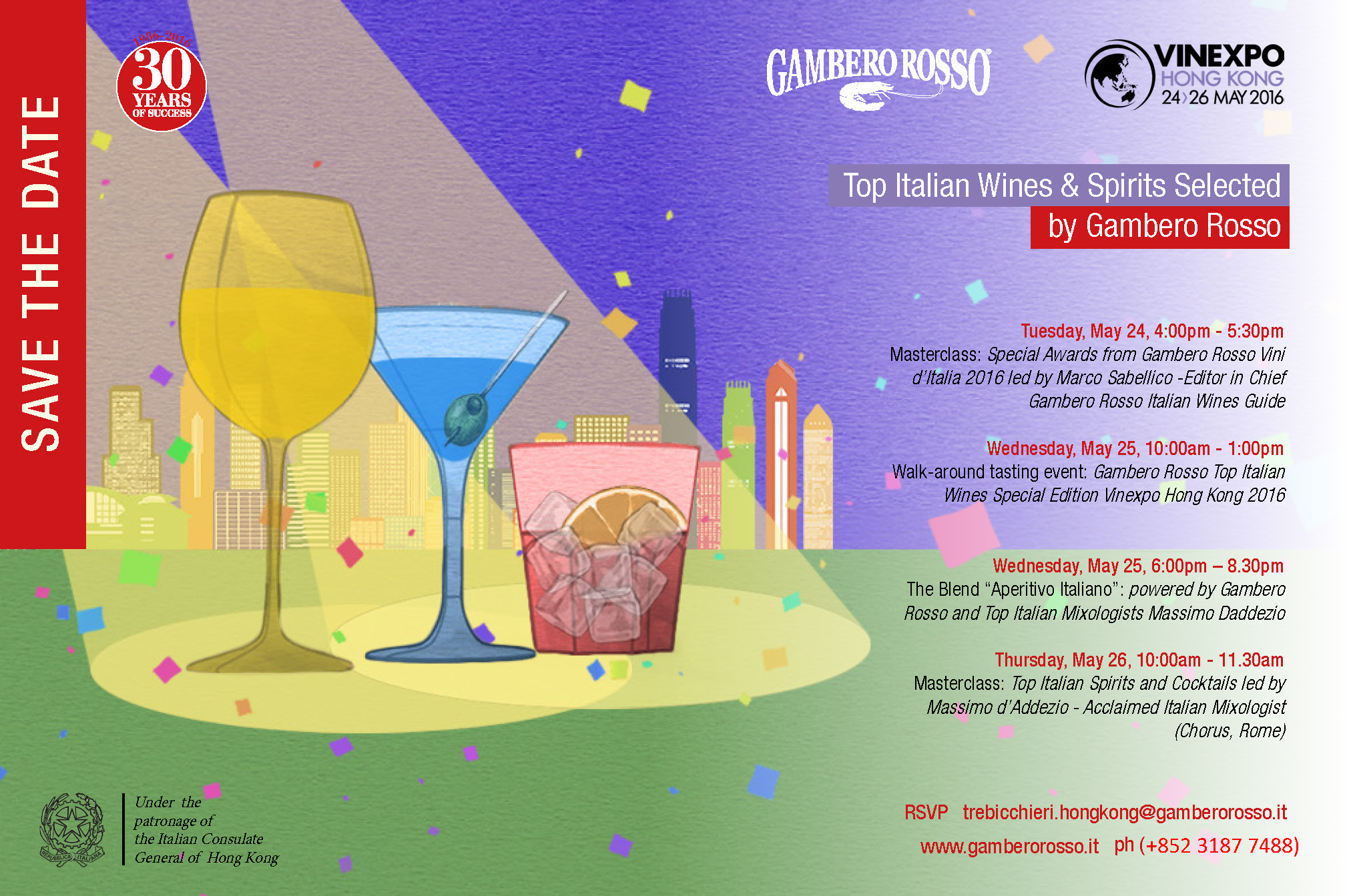 Vinexpo Hong Kong 2016 Gambero Rosso Event's