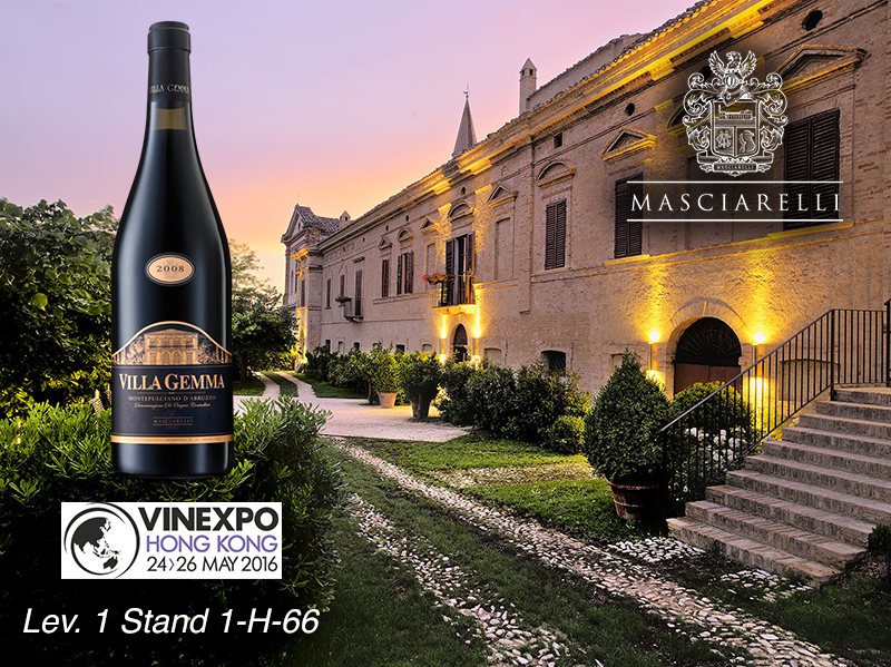 Masciarelli Wine Selection at Vinexpo Hong Kong 2016