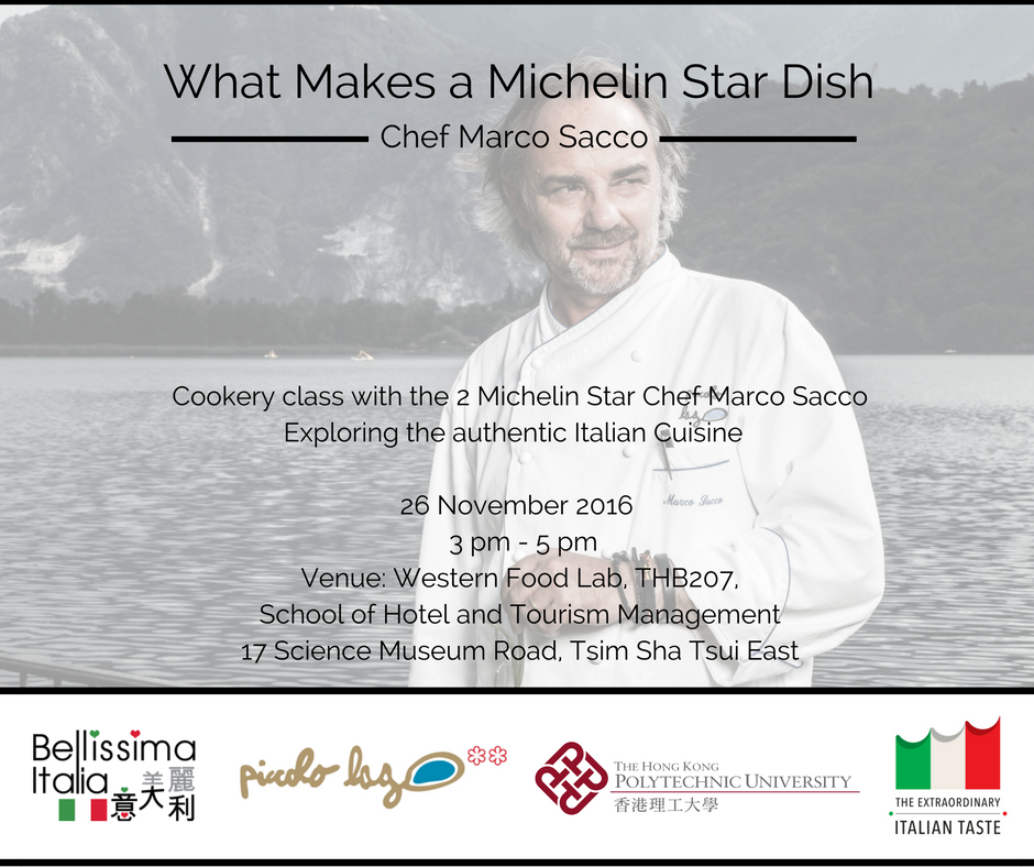 Cooking Class with Michelin Star Chef Marco Sacco Hong Kong