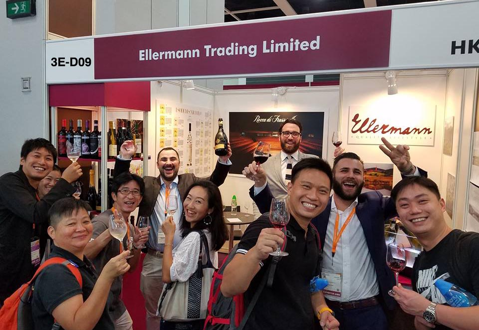 Ellermann booth 3E-D09 Wine & Spirits Iternational fair 2017 Hong Kong
