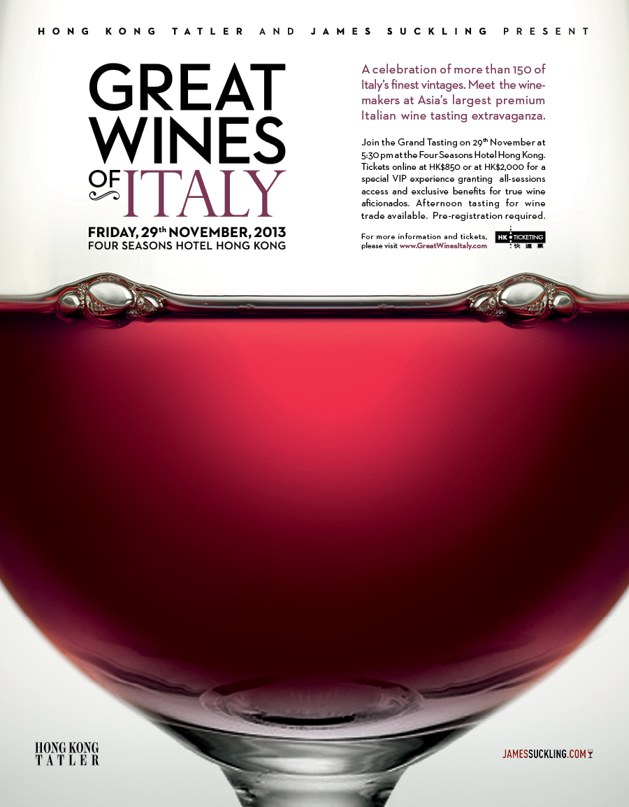 Savour the taste of Italy at Great Wines of Italy at Hong Kong